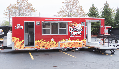 Graduation Catering Services Seven Hills OH - Famous Dave's - catering-battle-wagon